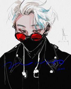 Wonho / Hoseok ( Monsta x) Pretty Art, Cute Art, Aesthetic Art, Aesthetic Anime, Arte Dark Souls, M Anime, Dark Anime Guys, Japon Illustration, Drawing Reference Poses