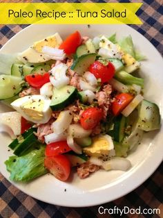 Here's a Paleo recipe for tuna salad I created. It's great for breakfast or ANY time of the day. Quick. easy. and delicious. you should try it!