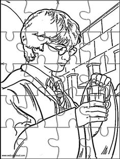 Printable jigsaw puzzles to cut out for kids Harry Potter 13 Coloring Pages