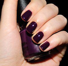 22 Trendy nails purple tips パープルネイルのアイデア Get Nails, Love Nails, Hair And Nails, Sns Nails Colors, Nail Polish Colors, Fall Nail Colors, Gel Polish, Essie, Swatch