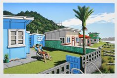 Tony Ogle - Time Out Tongaporutu for Sale - New Zealand Art Prints