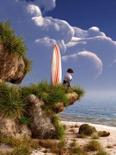 Dog and Surfboard by deskridge.deviantart.com on @deviantART