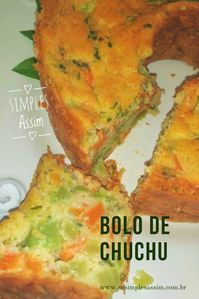 Bolo de chuchu Easy and yummy. Related Post Sweat, Smile & Repeat – 82120393191136675 21 Awesome Gifts for Every Fitness Lover You Know 45 Amazing Summer Outfits To Get ASAP Ketogenic Recipes, Diet Recipes, Healthy Recipes, Vegetarian Cooking, Vegetarian Recipes, Chayote Recipes, Good Food, Yummy Food, Portuguese Recipes