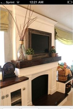 Framing In A Wall Mount Television Home Decor Diy Fireplace Mantlesfireplace Designfireplace
