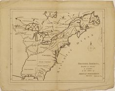 A scarce and most interesting little map of the future United States, possibly the first published proposal for dividing the trans-Appalachian territory into new colonies.   The map depicts Great Britain's American colonies east of the Mississippi River, based on the geography first developed in Mitchell's 1755 map of North America.  #4thofjuly #july4th #independenceday #raremap