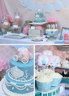 Beautiful Cinderella birthday cake! See more party ideas at CatchMyParty.com. #cinderella #girlbirthday