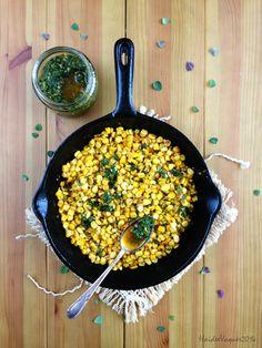 Haidee's Kitchen: Sautéed Corn with Chimichurri