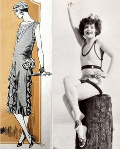 Couture dress by Lucien Lelong, 1925; Clara Bow, photographed by Dyar for Vanity Fair, 1928