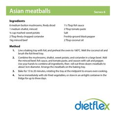 Asian meatballs #dietflex #healthyrecipes
