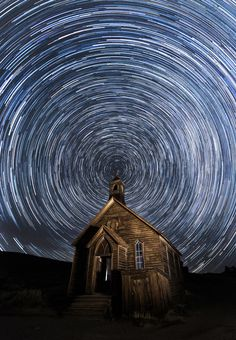 *Church Trails* Just processed another one from my incredible night at Bodie Ghost Town with Jeff Sullivan's Workshop. 140 Shots blended with StarStax Canon MK III Canon L II ISO 3200 30 Seconds Shots Induro Tripods http:/ Photography Camera, Nature Photography, Inspiring Photography, Night Photography, Photography Ideas, My Moon And Stars, Best Landscape Photography, Star Trails, Ghost Towns