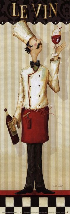 Especially like this.  I have these characters in my kitchen. Sitting on top of cabinets.   Holding a wine bottle.  Ect.