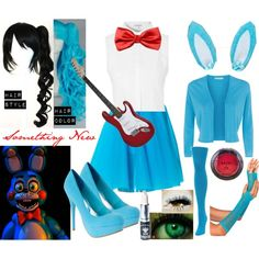 A fashion look from November 2015 featuring rayon tops, white sleeveless blouse and blue tulle skirt. Browse and shop related looks. Chica Costume, Fnaf Costume, Fnaf Cosplay, Casual Cosplay, Cosplay Outfits, Cosplay Costumes, Cosplay Ideas, Cute Punk Outfits, Disney Inspired Fashion