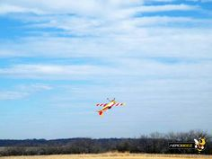 """75"""" 26% Scale Yak-55M 30cc RC Plane Inverted Harrier in beautiful sky."""