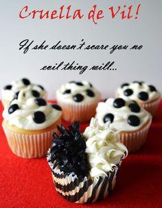 Cruella de Vil cupcake
