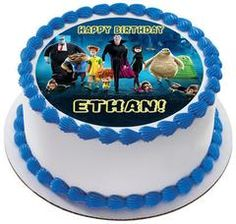 Hotel Transylvania Edible Birthday Cake Topper OR Cupcake Topper, Decor - Edible Prints On Cake (Edible Cake &Cupcake Topper)