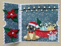 Cat Cards, Cards Diy, Dog Died, Marianne Design, Paper Piecing, Dog Cat, Christmas Cards, Card Making, Paper Crafts