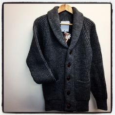 Beautiful British Wool, leather buttons, shawl collar, MADE IN BRITAIN.....whats not to love!