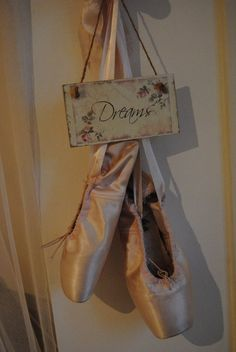 this is a great idea for my old pointe shoes!