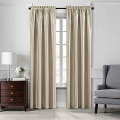 Colette Faux Silk Blackout Window Curtain Panel - Elrene Home Fashions : Target Waterfall Valance, Thermal Windows, Thing 1, Blackout Windows, Colorful Curtains, Drapes Curtains, Valances, Bedroom Blackout Curtains, Faux Silk Curtains