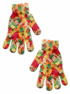 Yummy gummies! *PRINTED ON BOTH SIDES *ONE SIZE FITS MOST *GENERALLY FITS CHILDREN/WOMEN *100% POLYESTER