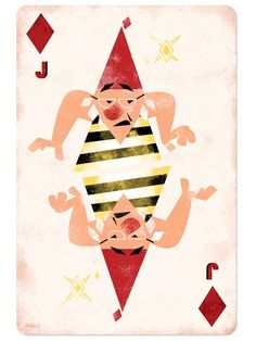 Disney Playing Cards Jack of Diamonds-Inspired by Smee/Peter Pan