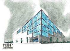 Excelente día, a iniciar una estupenda semana.  Proyecto: Edificio MTP Arquitecto: Martin T. Piña Técnica: Lápiz, Tinta china, Plumines - Mano alzada  #PinneappleMoments