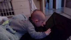 funny baby laptop