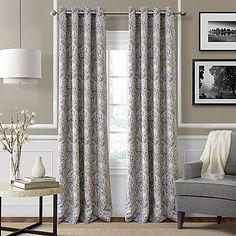 Julianne 84-Inch Blackout Grommet Top Window Curtain Panel in Blue