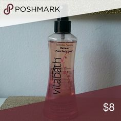 Vitabath Dreamy Pink Frosting Body Spray Sugar and sweet vanilla scented body spray by Vitabath. Used two or three times. Practically new. vitabath  Other