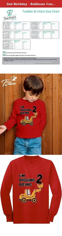 2nd Birthday - Bulldozer Construction Party Toddler Toddler/Kids Long sleeve T-Shirt 2T Red. Great 2-year-old birthday gift ideas!. Cute little kids crew-neck long sleeved tee top. Premium quality, 100% combed-cotton (preshrunk,) machine washable. Available in a wide variety of colors and sizes: 2T-5/6T - Choose the size and color options from the drop-down list. The best gift ideas for kids birthdays, special occasions, holidays, baby showers & big brother, big sisters presents.