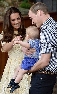 Kate, William and George looked like the epitome of a happy family during a visit to Taronga Zoo in Sydney last April. Photo © Getty