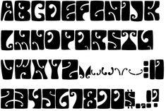 Gallery For > Psychedelic Fonts