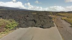 End of the road: Kaimu-Chain of Craters Road, Hawaii (Google Earth pic)