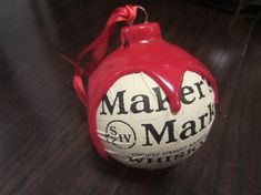 Handmade Makers Mark Bourbon Christmas Ornament with real Red Makers Wax & Label on Etsy, $9.99