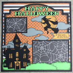 Getting Cricky Design Team Post - All the Way to the Moon Halloween 12x12 Single Layout |Faith Abigail Designs