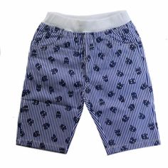 Skulls and stripes pants with elastic waist Striped Pants, Little Boys, Skulls, Elastic Waist, Trunks, Stripes, Swimwear, Clothes, Collection