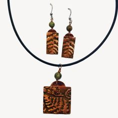 Mixed Media Earrings & Necklace - Cheri Aldrich | Touchstone Gallery
