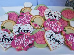 Bridal Shower Garden Party Decorated Cookies