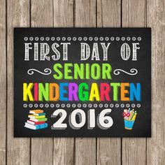First Day of  SENIOR Kindergarten and Last Day by TheLovelyDesigns