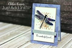 Happy Friday guys and welcome to another challenge with the Just Add Ink team. This week we have a a fantastic sketch challenge that I. Hand Made Greeting Cards, Making Greeting Cards, Greeting Cards Handmade, Making Cards, Dragon Dreaming, Bee Cards, Card Sentiments, Stampin Up Catalog, Butterfly Cards