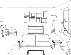 Interieur advies deel 1; Schetsen | Interior sketch, Interiors and ...