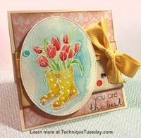 Watercolor Boots Card