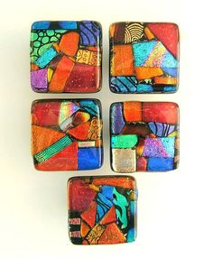 Unique Knobs in Mosaic Glass Art by Uneek Glass Fusions by Uneek Glass Fusions, via Flickr