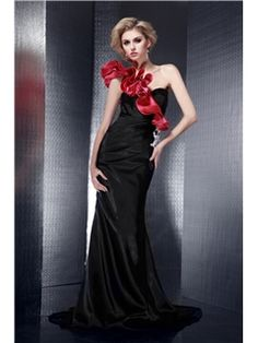 Brilliant Trumpet/Mermaid One-Shoulder Floor-Length Empire Waistline Dasha's Evening Dress