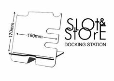 Sometimes the simplest things make the best solution. This is a two-part wooden docking stand which uses a slot method to safely hold your phone in place whilst charging or viewing. It also has handy cutouts & hooks for glasses, watch, keys and a slot for a wallet on the reverse This
