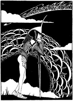 Behmer, Marcus - Salome illustrations for german edition by Verlag in translation by Hedwig Lachmann - Aubrey Beardsley, Fairy Tales, Ink, Fantasy, Drawings, Artwork, Hedwig, Illustrations, Green