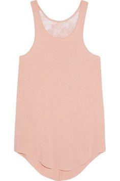 I.D. Sarrieri - Café Crème Lace-paneled Modal-blend Jersey Tank - Pastel pink - x large