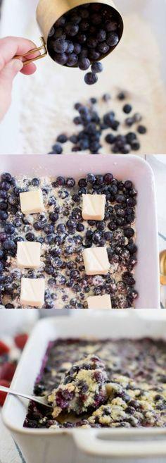 Best Ever Blueberry Cobbler Best Dessert Recipes, Easy Desserts, Delicious Desserts, Yummy Food, Breakfast Recipes, Yummy Eats, Dinner Recipes, Blueberry Cobbler Recipes, Blueberry Desserts