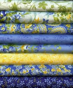My favorite fabric samples to mix for curtains and a nice sample of colors in the lighter shades. All of them work together very well