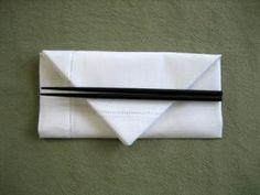 Envelope Napkin Folding Style - Napkin Fold Tutorial